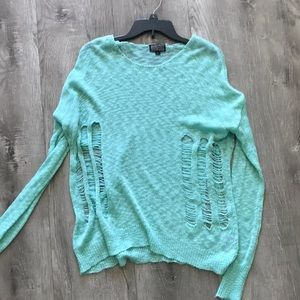 Lucca Couture teal sweater